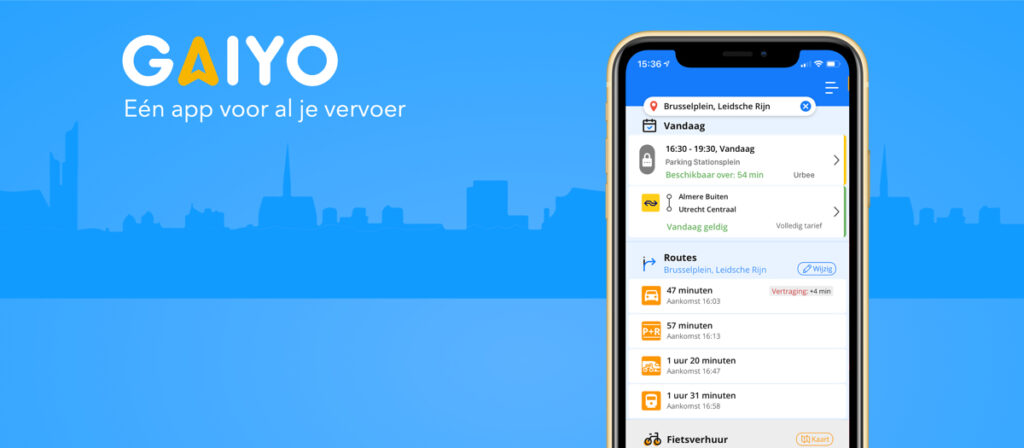 Eerste mobility as a service-pilot van Nederland van start met Gaiyo